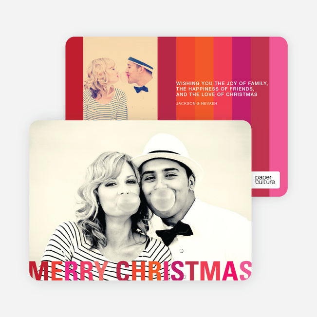 Modern Christmas Cards: Stripes - Red