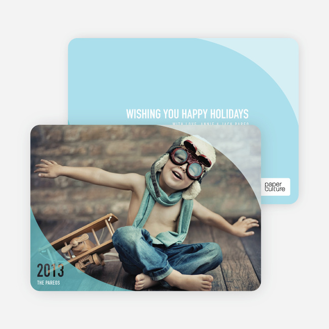 Ocean Waves Holiday Cards - Blue