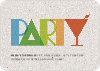 P–A–R–T–Y Party Invitations - Multi