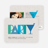 P-A-R-T-Y Party Invitations - Blue