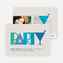 P–A–R–T–Y Party Invitations - Blue