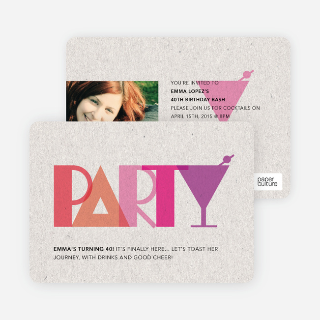 P–A–R–T–Y Party Invitations - Red