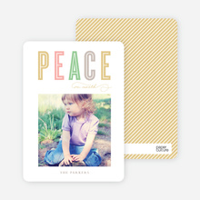 Peace Holiday Cards - Yellow