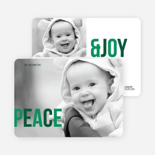 Peace & Joy - Green