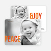 Peace & Joy Holiday Photo Cards - Orange