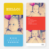 Birth Announcements: Primary Colors - Yellow