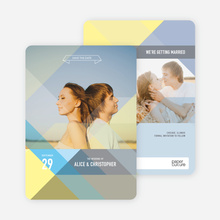 Prism Save the Dates - Yellow