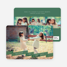 Ribbon Banner Holiday Cards - Green