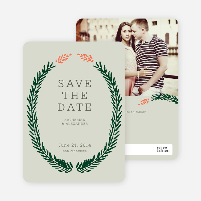 Save the Date Cards Fir (sic) You - Green