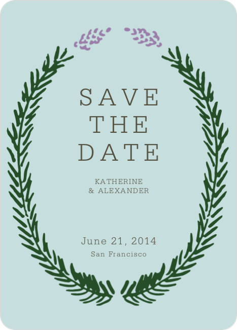 Save the Date Cards Fir (sic) You - Blue