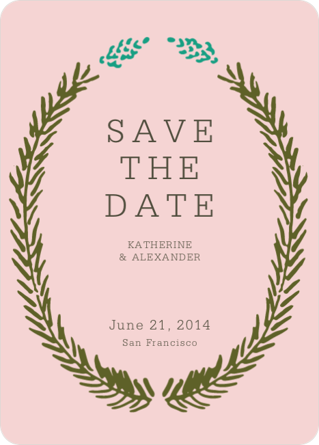Save the Date Cards Fir (sic) You - Pink