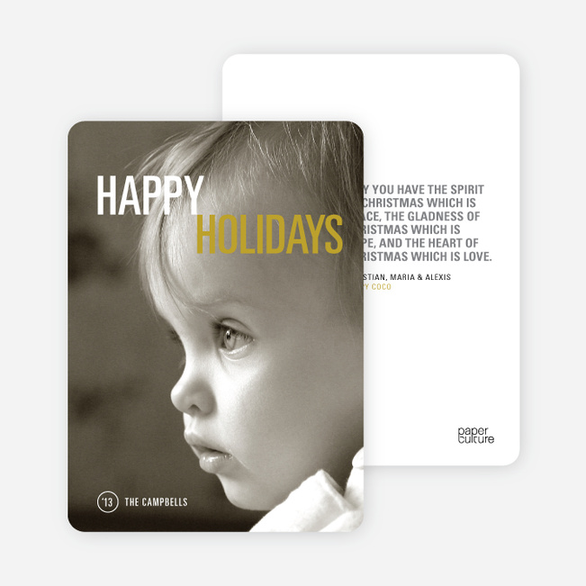 Christmas Cards: Simply Photo - Yellow