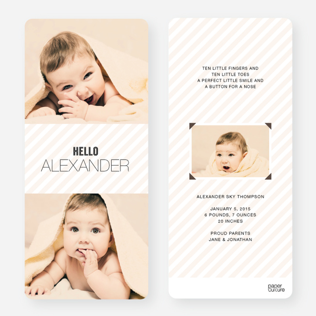 Holiday Cards: Soft Stripes - Beige