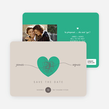 Tying the Knot Save the Date Cards - Green