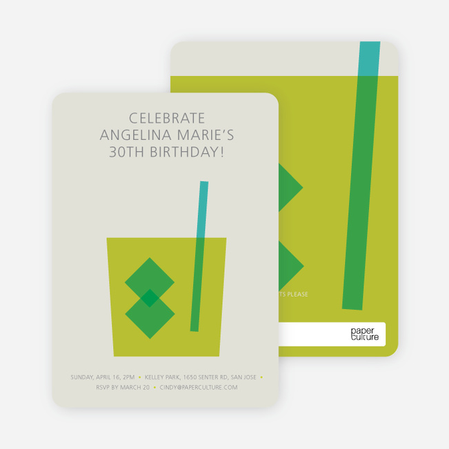 Whiskey Party Invitations - Green