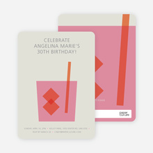 Whiskey Party Invitations - Pink