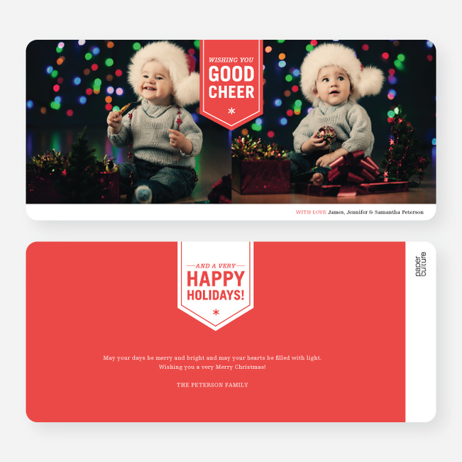 Holiday Cards: Wishing You Good Cheer - Red