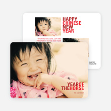 Year of the Horse Chinese New Year Cards - Red