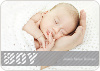 Boy Color Stripe Photo Baby Announcements - Grey