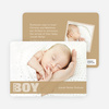 Color Stripe Photo Announcement: Boy - Main View