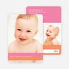 Colored Stripes Modern Birth Announcements - Strawberry Milkshake
