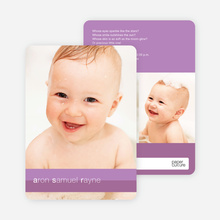 Colored Stripes Modern Birth Announcements - Deep Sunset