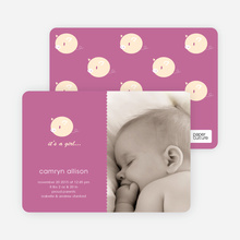 Darn Cute Piggy Baby Announcement - Violet Pink