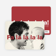 Fa–la–la–la–la: Deck the Halls or Diction Holiday Photo Cards - Red