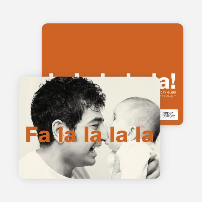 Fa–la–la–la–la: Deck the Halls Christmas Cards - Orange