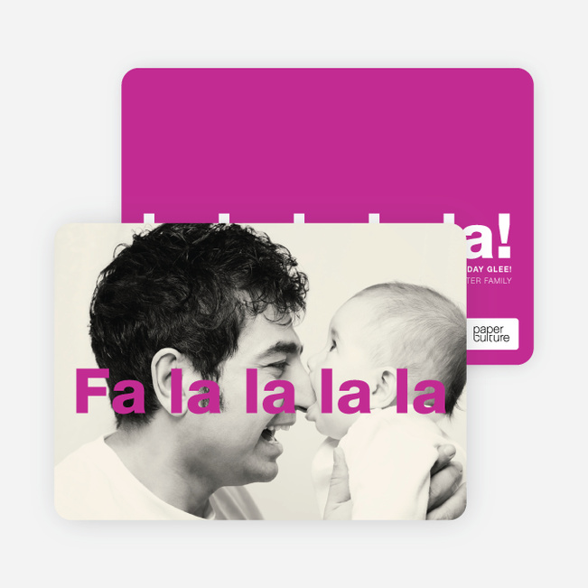 Fa–la–la–la–la: Deck the Halls Christmas Cards - Pink
