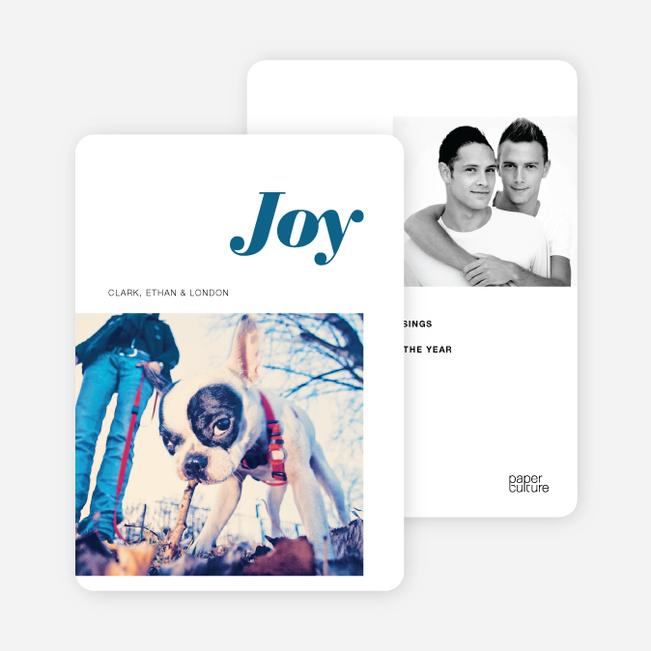 Holiday Cards: Joy - Blue