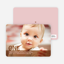 Prince and Princess Photo Invitations - Khaki