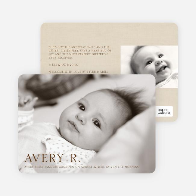 Pro Photo Birth Announcements - Chocolate