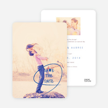 Save the Date Cards: Flourish and Flair - Blue