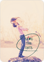 Save the Date Cards: Flourish and Flair - Green