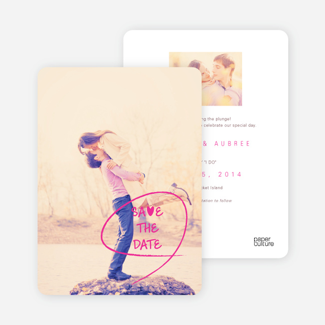 Save the Date Cards: Flourish and Flair - Pink