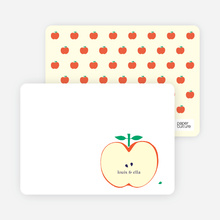 Appleseed Winks Note Cards - Cream