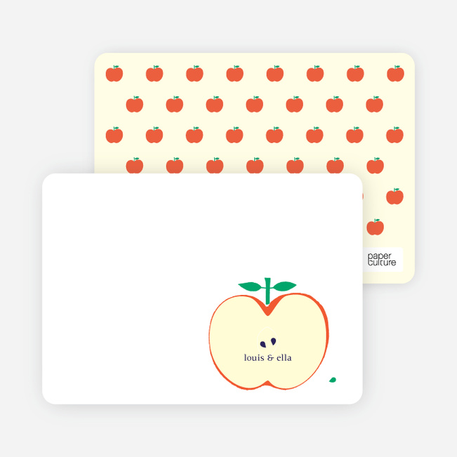 Stationery: 'Appleseed Twins' cards. - Cream