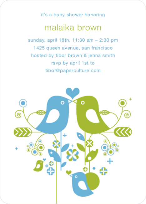 True Love Baby Shower Invitation - Sky Blue