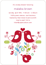 True Love Baby Shower Invitation - Violet