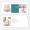 Colorful Blocks Holiday Photo Cards - Blue