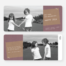 Denim Jeans Holiday Cards - Red