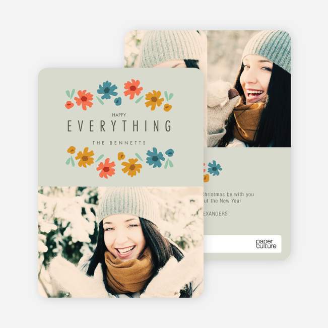 Everything's Coming up Roses Holiday Cards - Gray