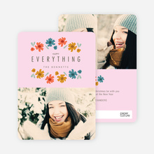 Everything's Coming up Roses Holiday Cards - Pink