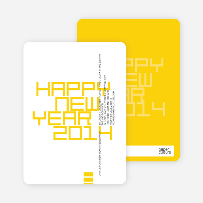 Modern and Bold New Year's Party Invitations - Sungold