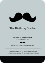 Movember Mustache Invitations - Black