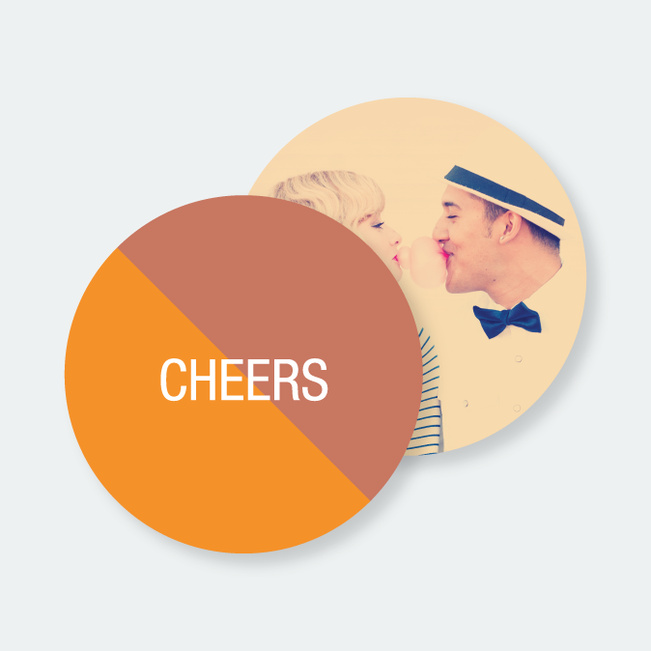 Personalized Coaster Word Games - Orange