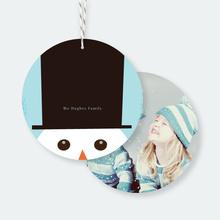 Snowman Christmas Ornaments - Blue
