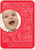 Spirit of the Holiday Baby Announcements - Front View