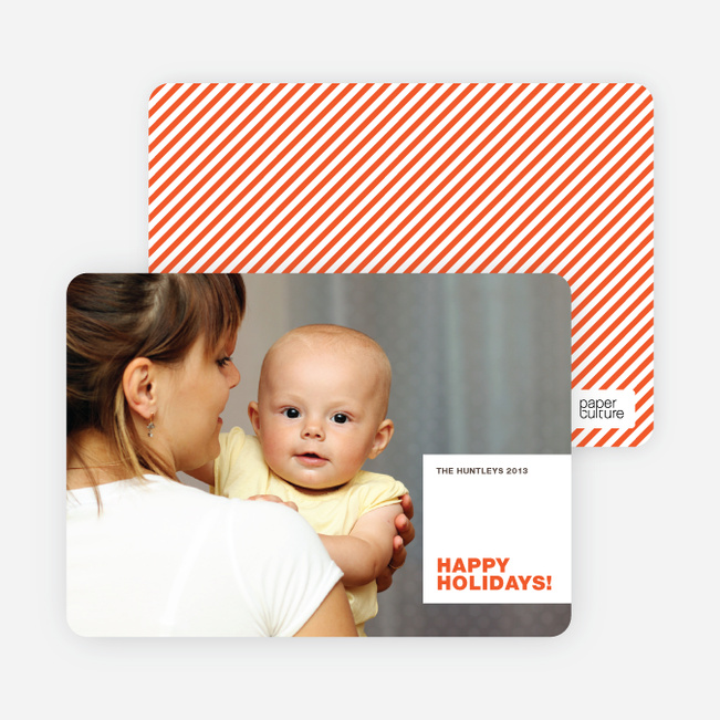 Happy Holiday Cards: All Square - Persimmon